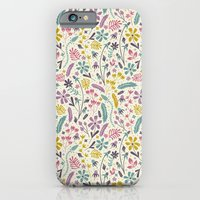 iPhone & iPod Case featuring Retro Blooms (Candy) by Anna Deegan