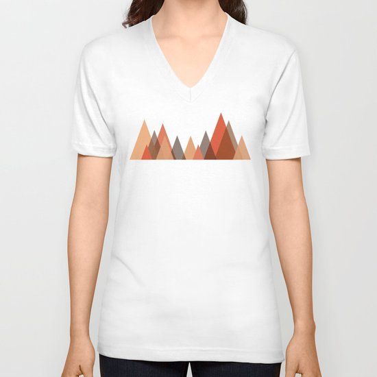 From the edge of the mountains V-neck T-shirt