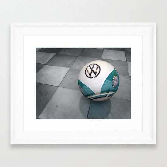 vw ball - aqua Framed Art Print