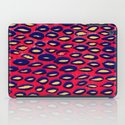 Mixed media and digital blue and pink pattern iPad Case