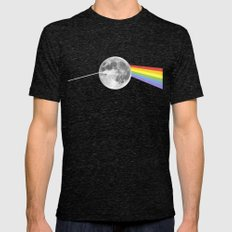 Dark Side of the Moon. Mens Fitted Tee Tri-Black SMALL