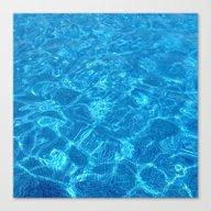 Waves Gently Splashing O… Canvas Print