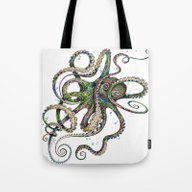 Tote Bag featuring Octopsychedelia by TAOJB