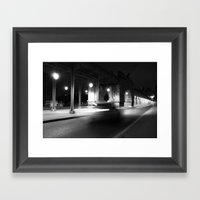 Fast driving in Paris Framed Art Print