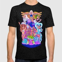 Farewell Art RAVE Mens Fitted Tee Tri-Black SMALL
