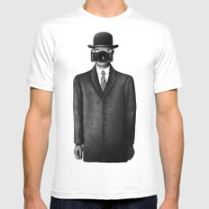 Son of Photographer White SMALL Mens Fitted Tee