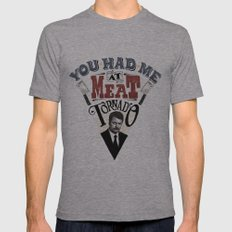 You Had Me At Meat Tornado Mens Fitted Tee Athletic Grey SMALL
