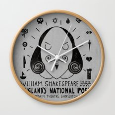 England's National Poet Wall Clock