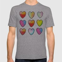 Paper Hearts Mens Fitted Tee Athletic Grey SMALL