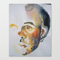 Self-Portrait in Watercolor Canvas Print