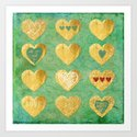 Heart of Gold (Society6 exclusive for Valentine's Day) Art Print