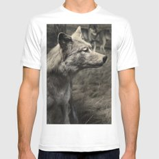 Tom Feiler Wolf Mens Fitted Tee White SMALL
