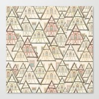 Pattern Houses Canvas Print
