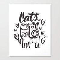 ALWAYS CATS Canvas Print