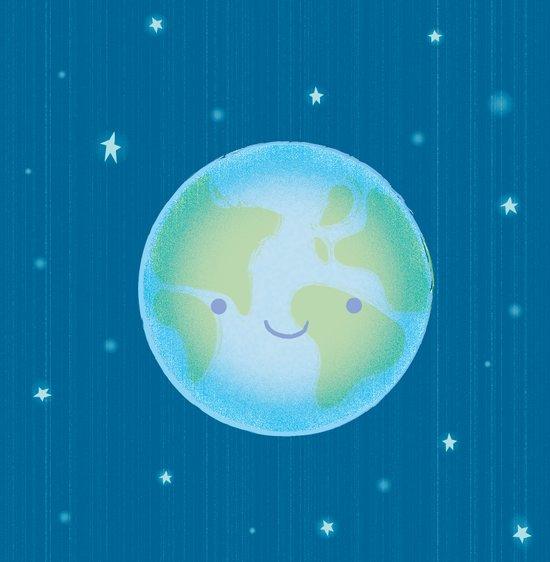 happy earth Art Print