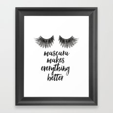 Girls Art Makeup canvas art Girly Makeup room Decor Girls quGirls Arote Makeup quotes Glamour Decor  Framed Art Print