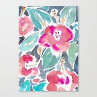 Peach Hibiscus Canvas Print