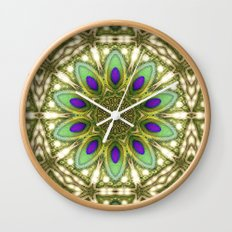 Peacock Healing Light Mandala Wall Clock