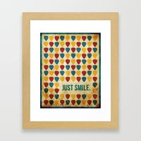 Just Smile. Framed Art Print