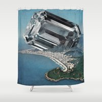 Costa Del Diamante Shower Curtain