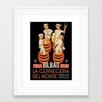 La cervecera del norte Framed Art Print