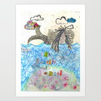 The Mermaid Of Zennor Art Print