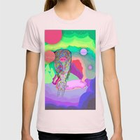 Soul Sailor no.3: Sailing the Universe Womens Fitted Tee Light Pink SMALL