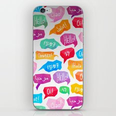 HELLO - CIAO - HOLA iPhone & iPod Skin