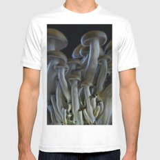 Magic Mushrooms SMALL White Mens Fitted Tee