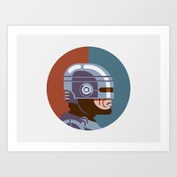 Headgear - Robocop Art Print