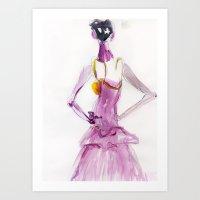 Lady boo Art Print