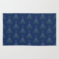 Christmas Trees Pattern Rug
