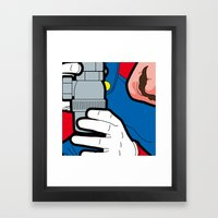 The secret life of heroes - Game at Work Framed Art Print