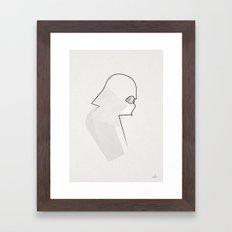 one line Vader Framed Art Print