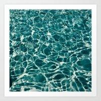 Pool Water Art Print