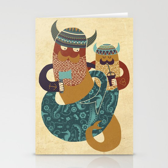The Bearded Men of the Sea Stationery Card