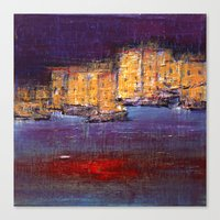 Town By The Sea Canvas Print