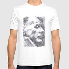 Borges SMALL White Mens Fitted Tee