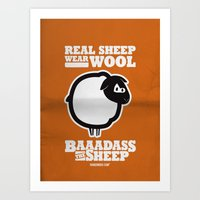 Baaadass The Sheep: Real… Art Print
