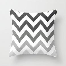 BLACK/GRAY OMBRÉ CHEVRON Throw Pillow