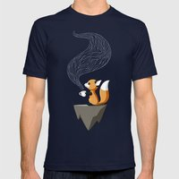 Fox Tea Mens Fitted Tee Navy SMALL