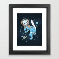Space Ermine Framed Art Print