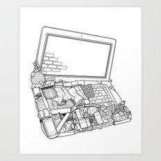 Laptop Surroundings Art Print