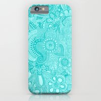 iPhone & iPod Case featuring millions aqua by Taylor St. Claire