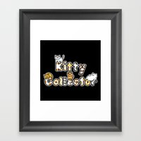 Kitty Collector Framed Art Print