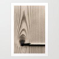 Wood//firestick Art Print
