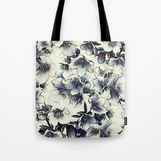 FLORAL PATTERN - LENTEN ROSE Tote Bag
