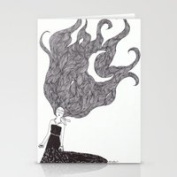 Moon Hair Stationery Cards