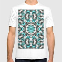 Textural Turquoise Manda… Mens Fitted Tee White SMALL
