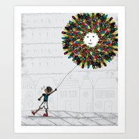 After the park! Art Print